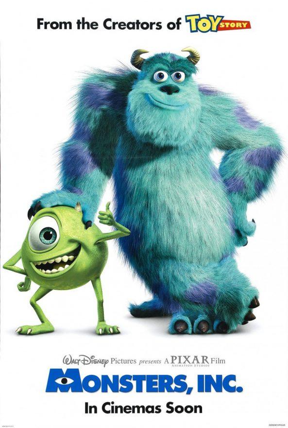 پوستر انیمیشن Monster Inc 2001