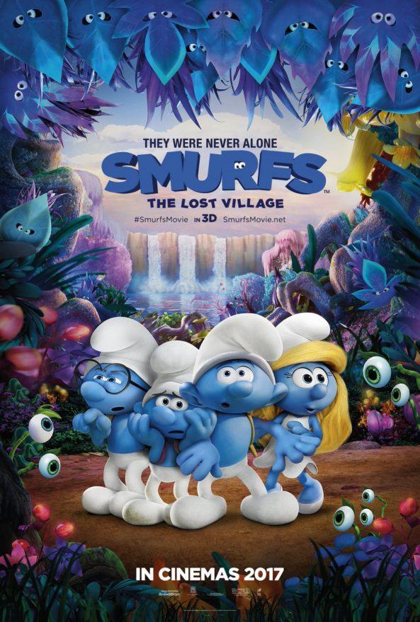 پوستر انیمیشن Smurfs The Lost Village 2017