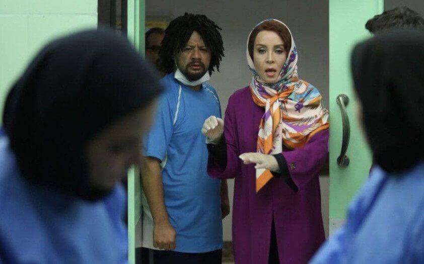 نمای هشتم فیلم Vay Ampool با حضور علی صادقی و حدیث فولادوند